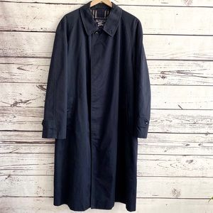 Burberry Mens Cotton Trench Coat Navy Blue 46L